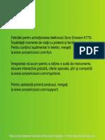 Userguide RO Sony Ericsson K770