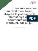 FAURE-BIGUET, Gustave (1912) Successions en Droit Musulman