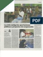 Preocupación antes los recortes de fondos públicos municipales para la cooperación internacional.