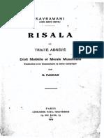 FAGNAN, Edmond (1914) Kayrawani Risala