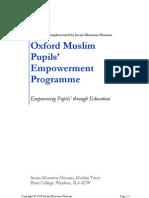 Oxford Muslim Pupils' Empowerment Programme