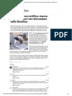 La Cassazione Certifica_ Manca Il Quorum Per i Sei Referendum Sulla Giustizia - Repubblica