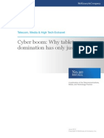 Cyber-Boom and the Domination of Tablets April 2012