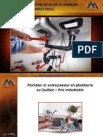 Plombier et entrepreneur en plomberie au Québec – Prix Imbattable