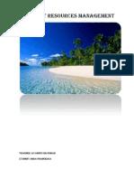 Tourist Resources Management