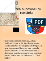 Unirea Bucovinei Cu Romania