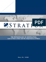 Stratfor - George Friedman - Methodology of Geopolitics - Part 1