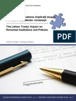 Tratatul de La Lisabona Impactul Asupra Institutiilor Si Politicilor Romanesti
