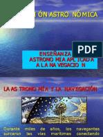 ENSEÑANZA DE ASTRONOMIA APLICADA A LA NAVEGACION