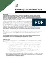 Extenuating Circumstances Form