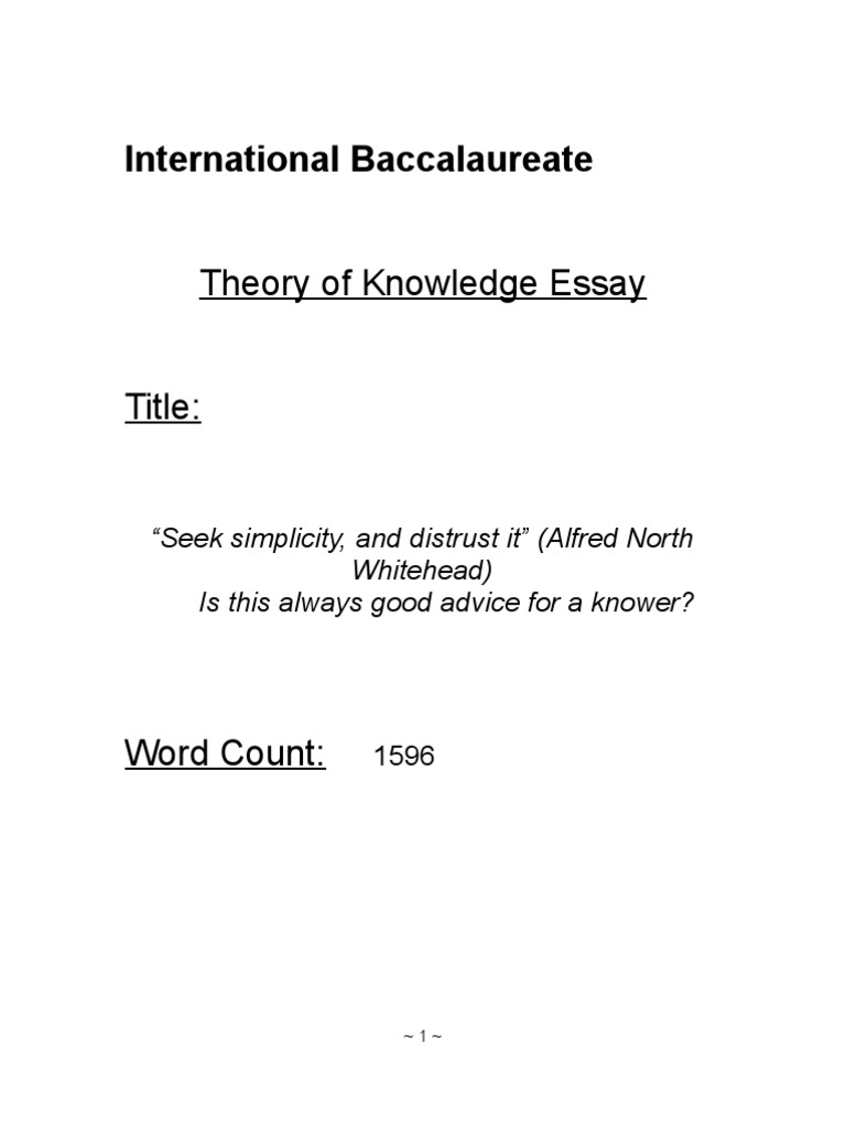 ib tok essay titles occam s razor theory