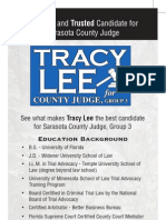 Why vote for Tracy Lee?