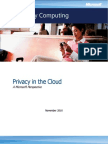 Privacy in the Cloud Whitepaper US English