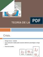 Teoría de la crisis presentacion de psicilogia
