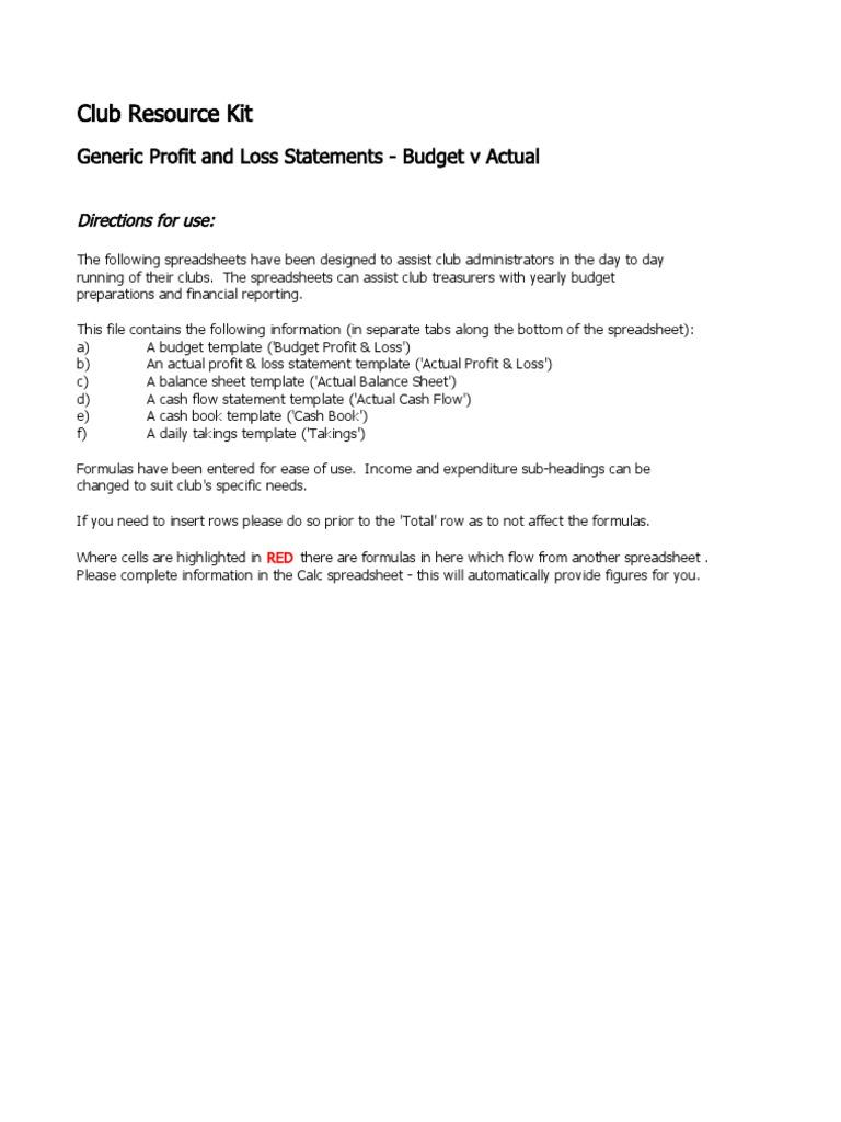 social club accounting spreadsheet expense spreadsheet