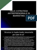 Cele 4 Strategii Antreprenoriale in Marketing