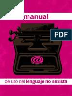 Manual de Uso Del Lenguaje No Sexista