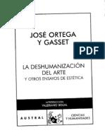 Ortega y Gasset, Jose - La deshumanizacion del arte.pdf
