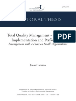 Total Quality Management Implementation