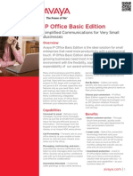 IP Office Basic Edition Fact Sheet- Avaya