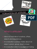 Formation of Attitude