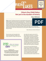 DT 83 China's One Child Policy: Not yet in the dustbin of history