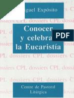 Exposito Miguel Conocer y Celebrar La Eucaristia