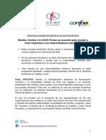 Bankia, Confae y la UCAV firman un acuerdo para ayudar a crear empresas a los emprendedores abulenses