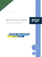 Reporte Anual Saesa 2010