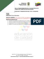 Taller de sensibilizacion y presentación del PTCE