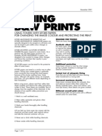 toning of black and white paper