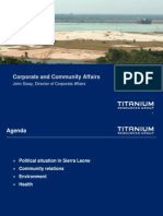 Corporate and Community Affairs