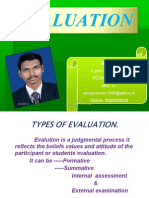 493ftypes of Evaluation .Ppt
