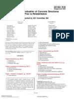ACI 364.1 R-94, Guide for Evaluation of Concrete Structures Prior to Rehabilitation