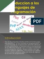 Introduccion a Los Lenguajes de Programacion2