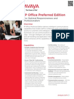 IP Office Preferred Edition Fact Sheet- Avaya