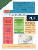 summer math academy newsletter spring 2013