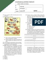 Avaliacao 1 Ano - Biologia - Comp. Quimica