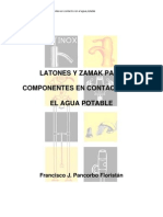 Latones y Zamak para Componentes en contacto con agua potable