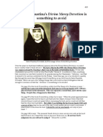 Sister Faustina's Divine Mercy Devotion is something to Avoid