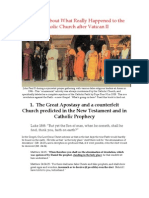 The Great Apostasy and a counterfeit Church predicted in the New Testament and in Catholic Prophecy