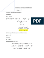 Ejercicios Ecuaciones en Diferencia #2