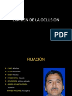 13.-Examen de La Oclusion