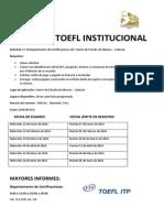 Calendario Examen TOEFL Institucional(8)