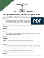 Audience Purpose Register