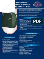 Transformador Tipo Pedestal Trifásico Marca IG