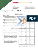 0710 (Economics) Paper-III