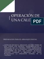 OPERACIÓN DE LA CALDERA