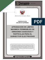 15.Proyecto de D.S Proyecto de Decreto Supremo  Aprobación de Limites Máximos Permisibles de Emision