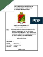 informe liquidacion financiera DEFENSA RIBEREÑA